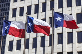 Three Texas Flags
