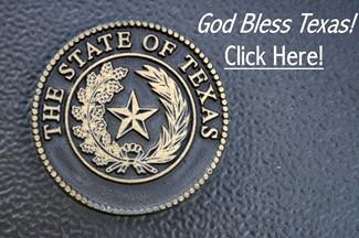 Texas Seal - God Bless Texas