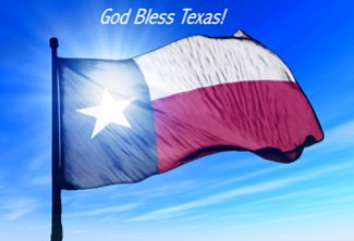 Texas Flag God Bless Texas