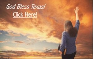 Praising Holding Up Hand God Bless Texas