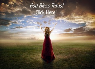 Woman Praising God Bless Texas