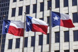 Three Texas Flags