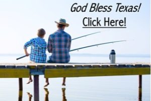 Father and Son Fishing God Bless Texas