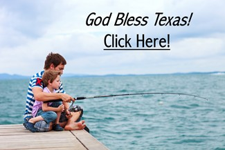 Father Son Fishing - God Bless Texas