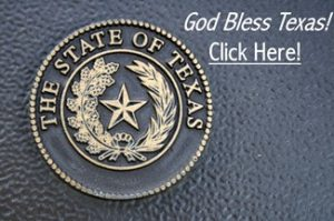 Texas Seal - God Bless Texas