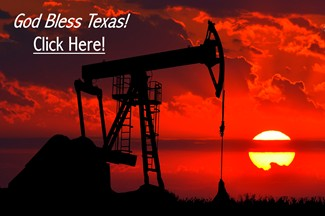 God Bless Texas Oil Rig