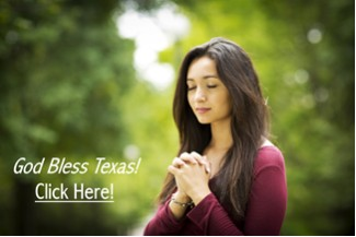 Praying Woman - God Bless Texas