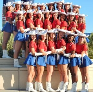 Hugging Kilgore Rangerettes State Fair of Texas
