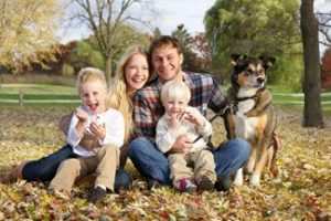 Happy Family in the Fall